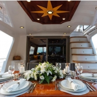 private mini cruises breakfast on deck turkey